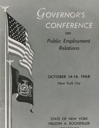 The Governor's conference on Public Employment Relations in October 1968 drew nearly 700 labor specialists to discuss public employment relations.