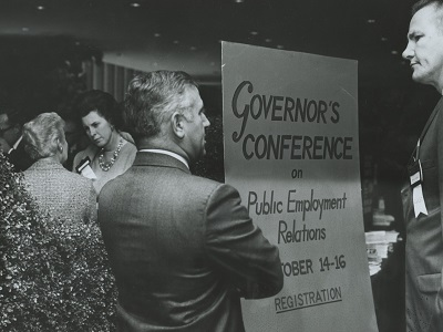 During the conference, issues such as the right to  strike, show cause hearings, compulsory or voluntary interest arbitration, and unfair labor practices were discussed.