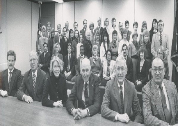 PERB staff in the Albany office, mid-1980s.