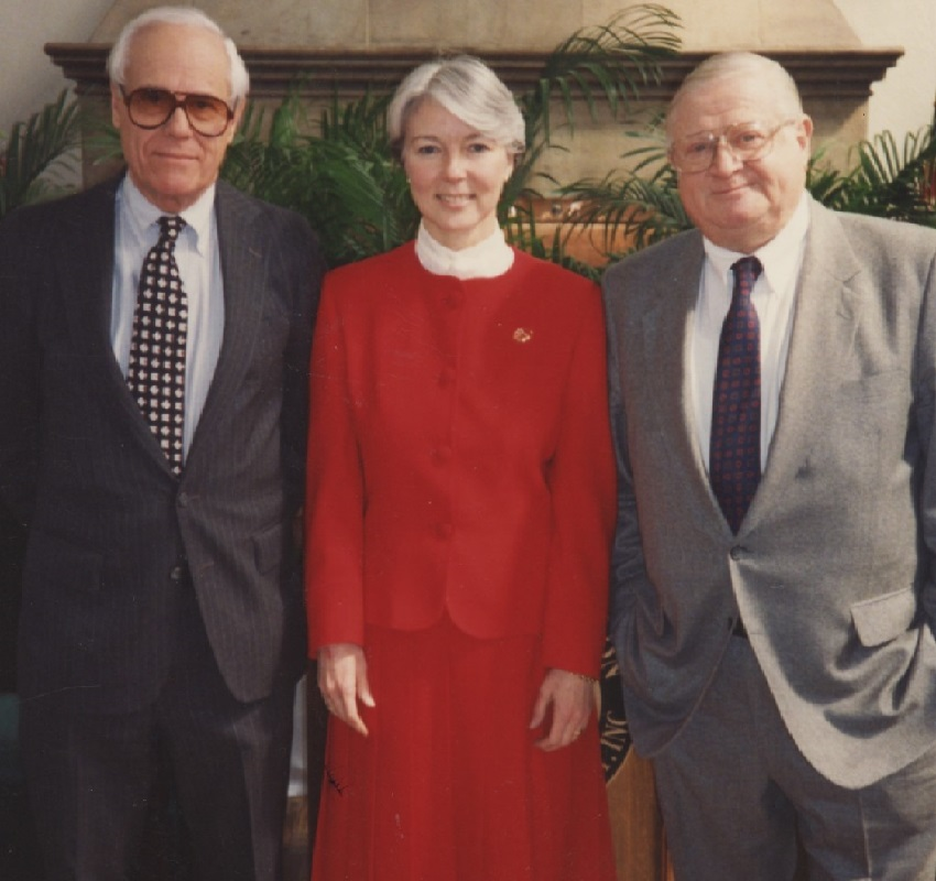 Board Member Eric J. Schermtz (1991-1997), Chair Pauline Kinsella (1991-1998), and Walter L. Eisenberg (1985-1995).