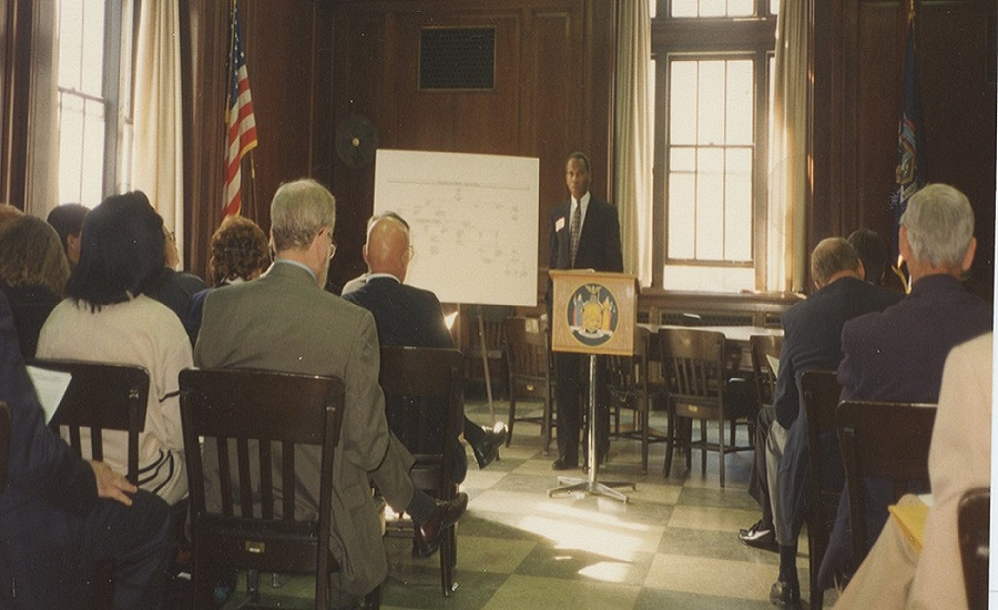 PERB Counsel Gary Johnson leads a training session in the 1990's.